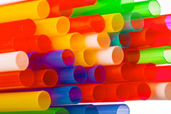 Multi Color flexible straws Stock Photo