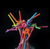 Multi Color flexible straws Royalty Free Stock Photography