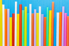 Multi Color flexible straws Royalty Free Stock Images