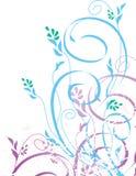 Multi-color flower design art work. Multi-color flower design work new beautiful stock illustration