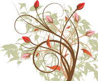 Multi-color flower design art work. Multi-color flower design work new beautiful vector illustration