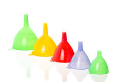 multi color funnel Royalty Free Stock Photography