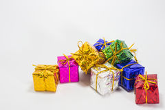 Multi color gift boxes Royalty Free Stock Photo