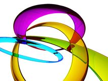 Multi-Color Glass Rings Stock Photos