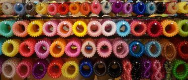 Multi-color hair band. For hair accessories for sales in Thailand Royalty Free Stock Photo