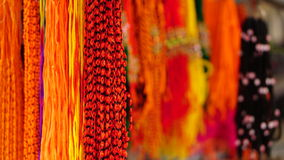 Multi color hanging threads Stock Photos