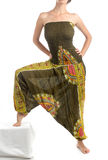 Multi-Color Harem Pants with Indian Pattern Royalty Free Stock Images