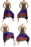Multi-Color Harem Pants with Indian Pattern Royalty Free Stock Photography