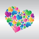 Multi color heart. Icon for desing Royalty Free Stock Photography