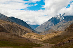 Multi-color hills in Spiti Stock Photography