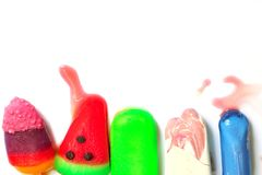 Multi color ice pop Royalty Free Stock Photography