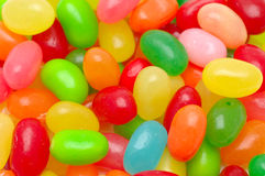 Multi color jelly beans Stock Photos