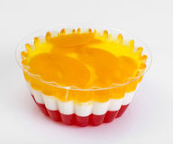 Multi-color jelly in plastic molds Royalty Free Stock Photo