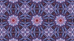 Multi color kaleidoscope pattern with abstract cross stock illustration