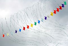 Multi color kites Royalty Free Stock Images