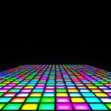 Multi color lights floor. 2d illustration of a multi color lights floor Stock Images