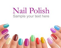 Multi Color manicure Royalty Free Stock Photos