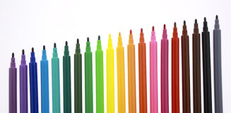 Multi color markers Royalty Free Stock Photography