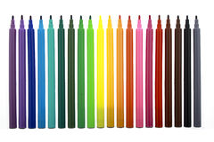 Multi color markers Stock Photography