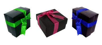Multi color and multi angle gift boxes for designe Royalty Free Stock Photos
