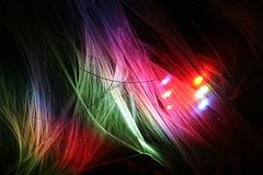 Multi color net. Net with many colors at night stock photography
