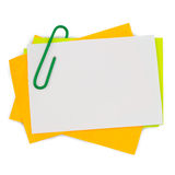 Multi color note with red paper clip Stock Image