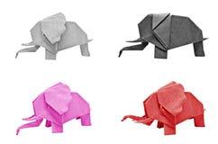 Multi color origami elephant Stock Photo