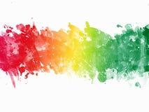 Multi-Color Paint Splatter. Border/Background Stock Photography