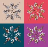 Color painting patterns for cretive illustraators of the world Stock Images