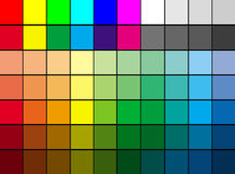 Multi color palette. Background, suitable to use it as color mosaic background stock illustration