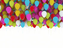 Multi color party balloons Royalty Free Stock Photos