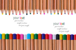 Multi color pencil  white background Royalty Free Stock Photo