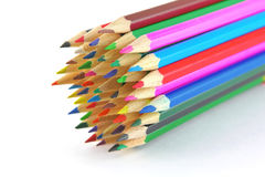Multi color pencils Stock Photo