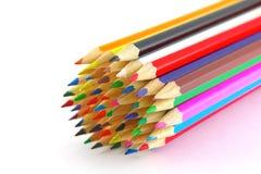 Multi color pencils Royalty Free Stock Photos