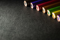 Multi color pencils Royalty Free Stock Image