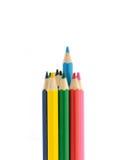 Multi Color pencils on white background. Multi Color pencils isolated on white background Royalty Free Stock Image