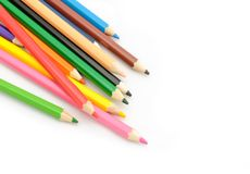 Multi Color pencils on white background. Multi Color pencils  on white background Stock Photos