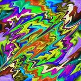 Multi color phsycadelic waves Stock Photos