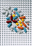 Multi color pills Royalty Free Stock Photo