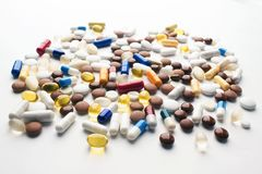 Multi-color pills royalty free stock photo