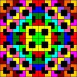 Multi-color polygon pattern on black background. royalty free illustration
