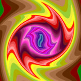 Multi color psychedelic spiral Royalty Free Stock Photo