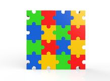 Multi-color puzzle Royalty Free Stock Photography
