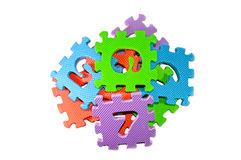 Multi-color Puzzle Blocks Royalty Free Stock Photography