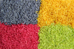 Multi color Rice Royalty Free Stock Photos