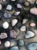 Multi color river rocks Stock Images