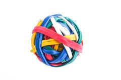 Multi color Rubber band ball royalty free stock images