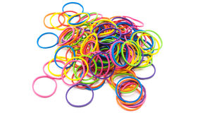 Multi color rubber elastic bands Royalty Free Stock Photos