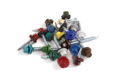 Multi-color self-tapping screws Royalty Free Stock Photography
