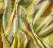 Multi color silk background cloth Stock Photos